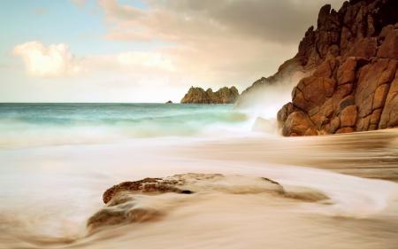 Заставки скалы, камень, море, волна