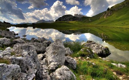 Обои небо, озеро, природа
