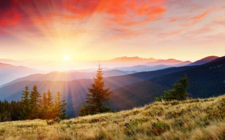 Обои рассвет, пейзажи, природа, небо