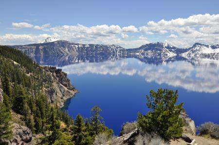 Обои Crater Lake, Oregon, природа, озеро