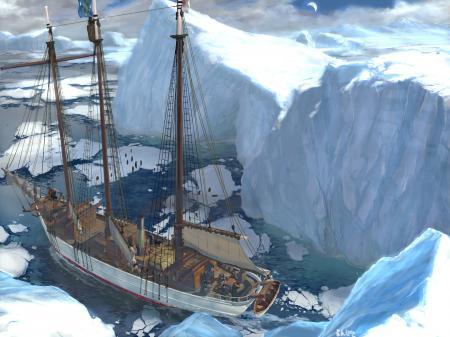 Фото арт, ran pota, льды, корабль