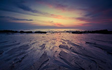 Обои море, берег, небо, вечер