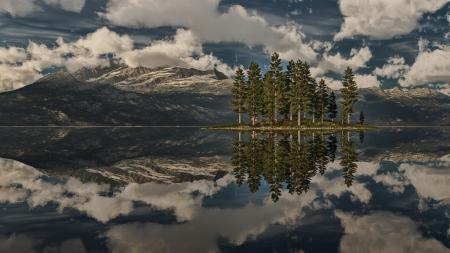 Заставки Природа, озеро, горы, лес