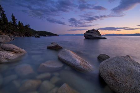 Заставки Природа, озеро, камни, лес