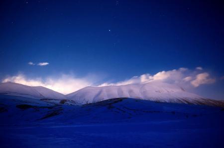 Заставки горы, звёзды, небо, ночь