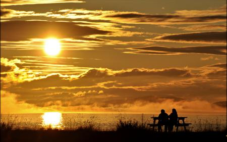 Фото море, закат, природа, пейзаж