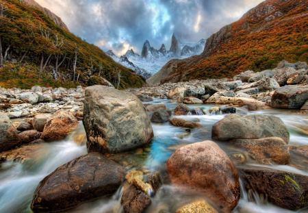 Картинки горы, река, камни