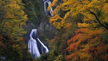 Фотографии осень, водопад, скалы