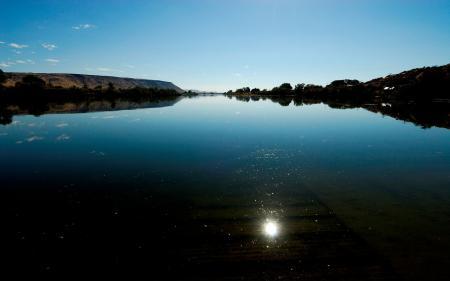 Фотографии озеро, отражение, солнце