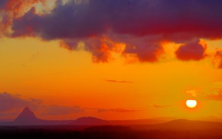 Заставки пейзажи, закаты солнца, солнце, облака