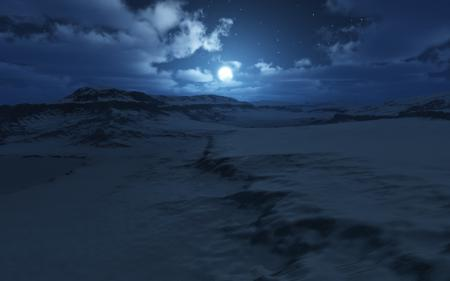 Фотографии ночь, луна, зима, снег