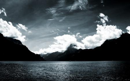 Фото природа, пейзаж, горы. море, небо