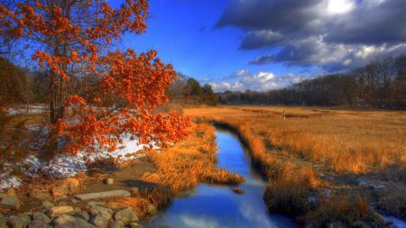 Фото осень, река, hammonasset state park