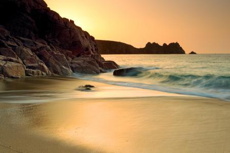 Фото море, пляж, золото
