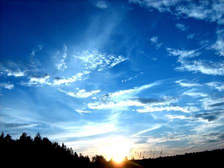 Фото осень, закат, небо