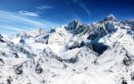 Заставки горы, снег, небо, высь