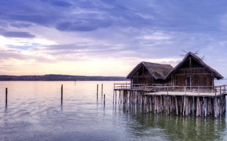 Фотографии озеро, дома, пейзаж