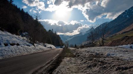 Заставки дорога, горы, пейзаж