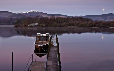 Фотографии озеро, лодка, пейзаж