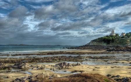 Обои France, Brittany, St-Quay, море