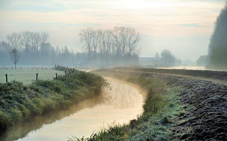 Фотографии утро, река, туман, пейзаж