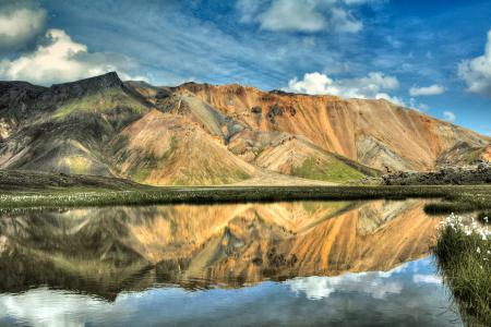 Фото Исландия, горы, озеро, отражение