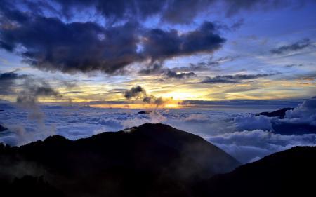 Заставки небо, закат, горы, пейзаж