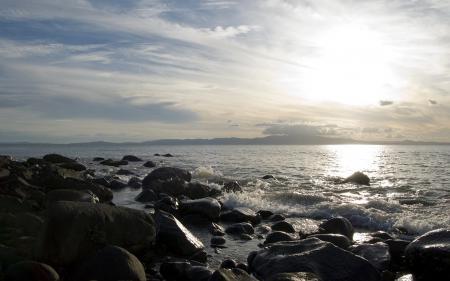 Фотографии камни, море, берег, пейзажи