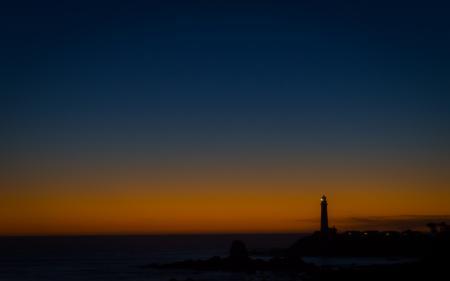 Фото пейзажи, маяки, ночь, вечер