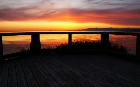 Картинки терраса, закат, море