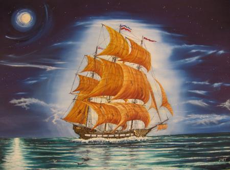 Картинки Летучий голландец, john, tansey, живопись