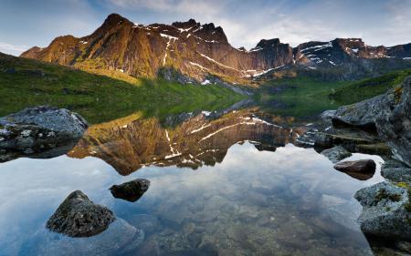 Картинки Reflection, природа, пейзаж, горы