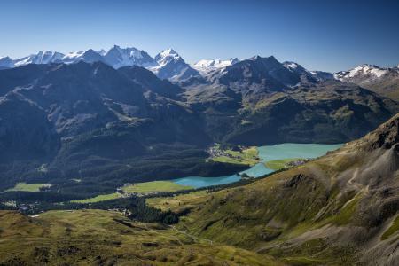 Заставки горы, снег, гряда, озеро