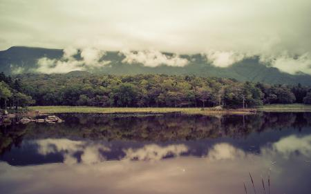 Обои озеро, горы, пейзаж