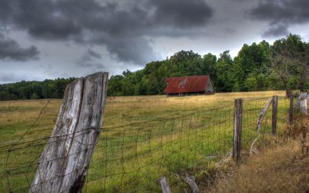 Картинки поле, дом, забор, пейзаж