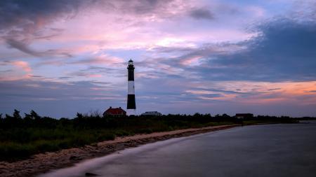 Картинки маяк, море, ночь, пейзаж