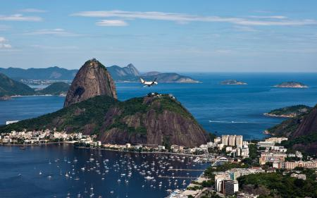 Фотографии бразилия, рио-де-жанейро, пристань, скала
