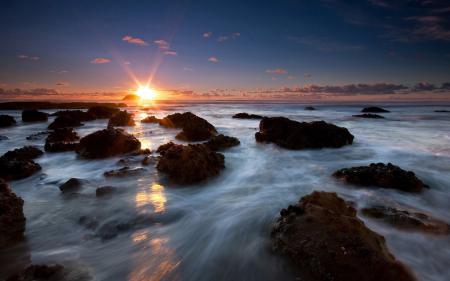 Обои природа, пейзаж, закат, море