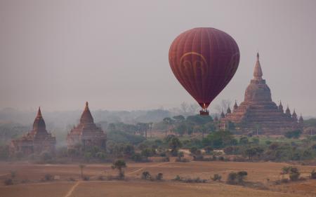 Заставки бирма, храм, воздушный шар, сергей доля