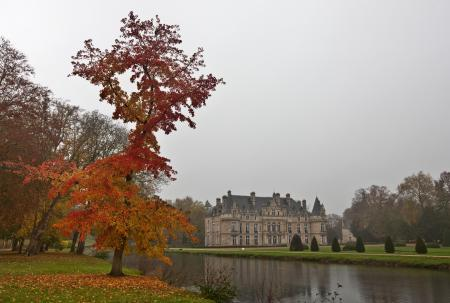 Заставки франция, дворец, осень, канал