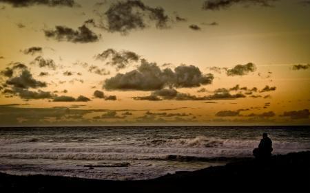 Картинки море, океан, прибой, горизонт