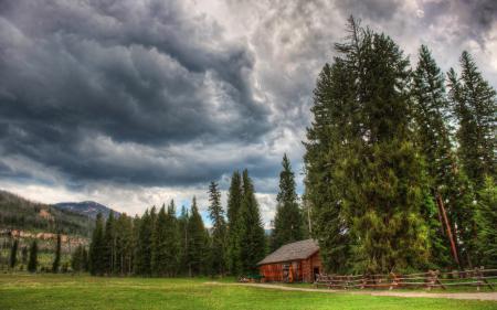 Обои пейзажи, дома, деревья, фото
