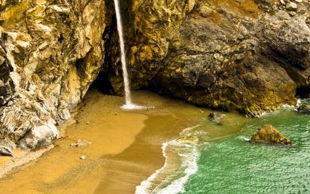 Обои пейзажи, водопады, вода, скалы
