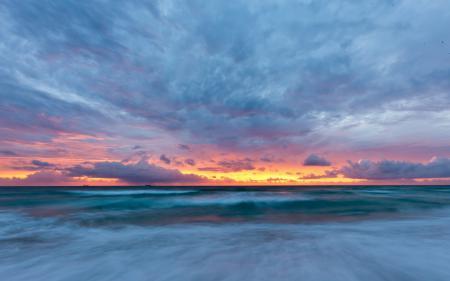 Фото закат, океан, небо, сергей доля