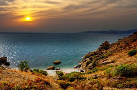 Фото небо, пляж, море, людишки портящие вид