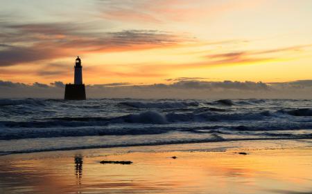 Обои море, вечер, волны, небо