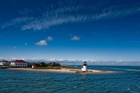 Фото море, маяк, побережье, дома