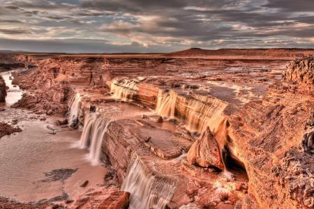 Заставки водопады, горы, река