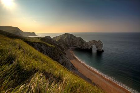 Картинки море, скала, арка, пляж
