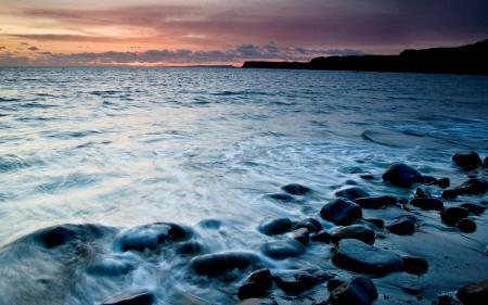 Фотографии вечер, закат, море, волны